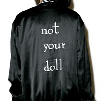 Not Your Doll Bomber Jacket