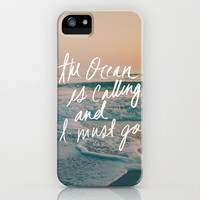 The Ocean is Calling by Laura Ruth and Leah Flores iPhone Case by Leah Flores | Society6