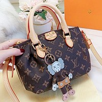 LV Louis Vuitton New fashion monogram leather pendant shopping leisure shoulder bag women handbag crossbody bag
