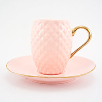 Pink Pineapple Handmade Ceramic Espresso Cup