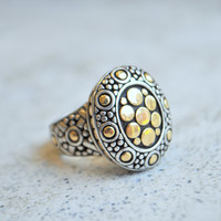 John Hardy Vintage Dot Collection Ring 18K  & .925