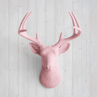 The Virginia Blossom Pink Faux Deer Head