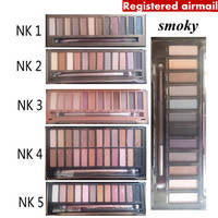 NK 1 2 3 4 5 SMOKY naked eyeshadow with brush kit Makeup 12 color  Palette cosmetic dropshipping face care Registered airmail