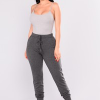 On The Daily Basic Jogger - Charcoal