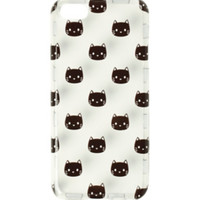 Clear Black Cat Heads Anti Shock iPhone 5C Case