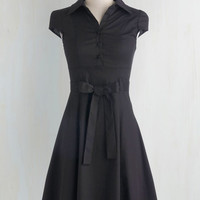 Vintage Inspired Mid-length Cap Sleeves A-line Soda Fountain Dress in Cola