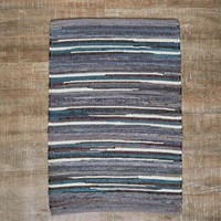 2x3 Grey and Blue Rug