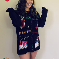 Presents & Wreaths Ugly Christmas Party Sweater
