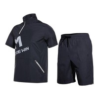 Short Sleeve Running Jogger Sets 2/Pcs Men Fitness Hiking Cycling Shorts Tracksuits 2018 Hot Sweat Sports Suits for Fitness Gym