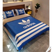Fashion ADIDAS Modal 4 Pieces Sheet Set Blanket For Home Decor Bedroom Living Rooms Sofa