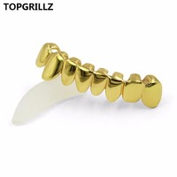 TOPGRILLZ Hip Hop Grillz GOLD Color PLATED DRIP STYLE Teeth GRILL Shaped Bottom Tooth Grills Ship From US