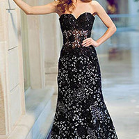 Strapless Mermaid Gown 79108
