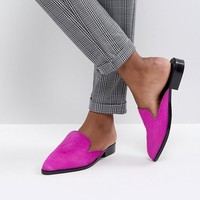 ASOS MALICE Leather Pointed Mules at asos.com