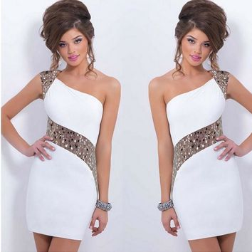 Ball Gown One Shoulder Prom Dress [2070459973686]