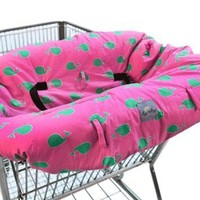 Ritzy Sitzy Whale Watch Pink Shopping Cart Cover + High Chair Cover