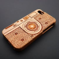 Buy 1 Get 1 Free - Camera M1 Wood Case for iPhone 5 , 4 , Cherry Wood iPhone 5 Case , Personalized iPhone5 Case Wood , iPhone 5s Case Wood