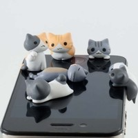 10pcs Cheese Cat 3.5mm Anti Dust Earphone Jack Plug Stopper Cap for Iphone HTC:Amazon:Cell Phones & Accessories