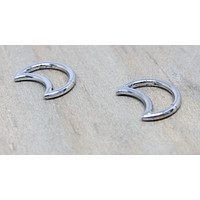 "Titanium daith moon earring hinged clicker 16g 5/16"" 8mm or 3/8"" 10mm diameter hypoallergenic pick your anodized color"
