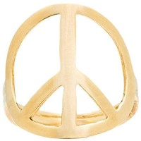 Large Peace Sign Ring