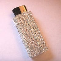 Bedazzled Rhinestone lighter by PinterestPresents on Etsy