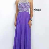 Lavender High Neck Prom Dress from Intrigue by Blush