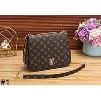 LV Louis Vuitton tide brand female fashion wild chain bag shoulder diagonal package #1