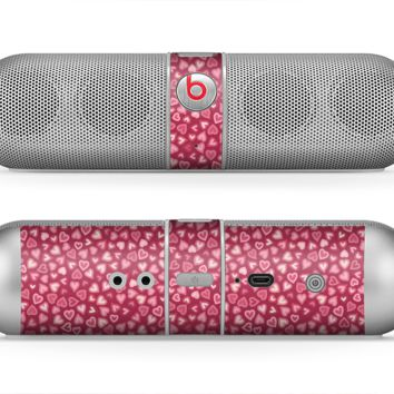 The Small Pink Hearts Collage Skin for the Beats by Dre Pill Bluetooth Speaker