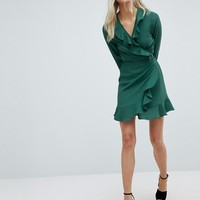 ASOS Ruffle Wrap Mini Dress at asos.com