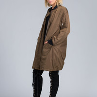 Long Time Coming Padded Duster Jacket