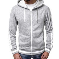 Men Hoodies Fashion Zipper Jacket Sportswear Tracksuit