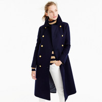 UK Manteau femme 2017 Autumn Winter Women Navy Notched Double breasted Woolen Long coat Classic Slim Overcoat abrigos mujer