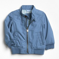 Plaid-Lined Flight Jacket | Gap