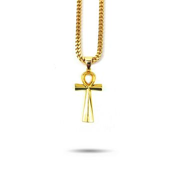 Micro Ankh Piece Necklace