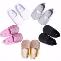 Newborn Baby Girl Shoes Toddler Crib Prewalker Baby Infant Kids Girl Soft Sole Cotton First Walkers 0-18M