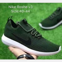 """""""NIKE"""" Roshe One Women Casual Sport Shoes Sneakers knit Army Green H-A50-XYZ"""
