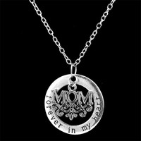 Mothers Day Gift Mom Necklaces For Daughter Son Child Classic