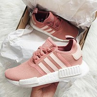 Adidas NMD_R1 J Trending Fashion Casual Running Sports Shoes Sneakers Shoes Pink