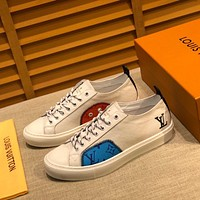 LV Louis Vuitton Men's Leather Tatoo Low Top Sneakers Shoes