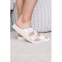 Arizona EVA Birkenstocks | White | Narrow