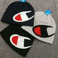 Champion Hip Hop Women Men Beanies Winter Knit Hat Cap
