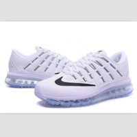 """NIKE"" Trending Air Max Toe Cap hook section knited Fashion Casual Sports Shoes sapphire White black hook(transparent soles)"