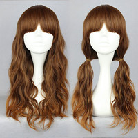 LOLITA WIG Hot Sell Beautiful Fashion Style 60cm Long curly multi color Cosplay Anime WigS,Colorful Candy Colored synthetic Hair Extension Hair piece 1pcs WIG-336A