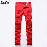 Men Casual Straight Denim Men's Fashion Jeans Slim Denim Overall Brands Home Biker Jeans