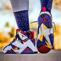 Air Jordan 7 Retro Fashionable Women Sport Running Basketball Shoes Sneakers