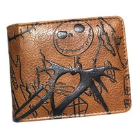 new wallet men Pulp Fiction/undertale/Assassin Creed/nightmare before christmas wallet with Zipper coin pocket Credit card slot
