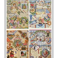 Counted Cross Stitch Kit janlynn Four Seasons