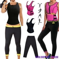NEW Neoprene Sauna Vest Body Shaper Slimming Waist Trainer Shapers