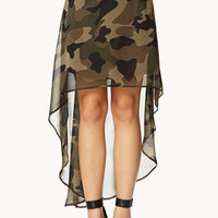 High-Low Camo Skirt | FOREVER 21 - 2062138216