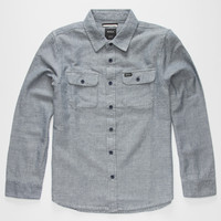 Rvca Coyote Boys Flannel Shirt Blue  In Sizes