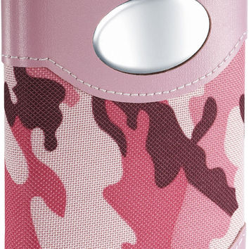 Visol GI Jane Pink Camouflage Wrapped Stainless Steel Hip Flask - 8 oz